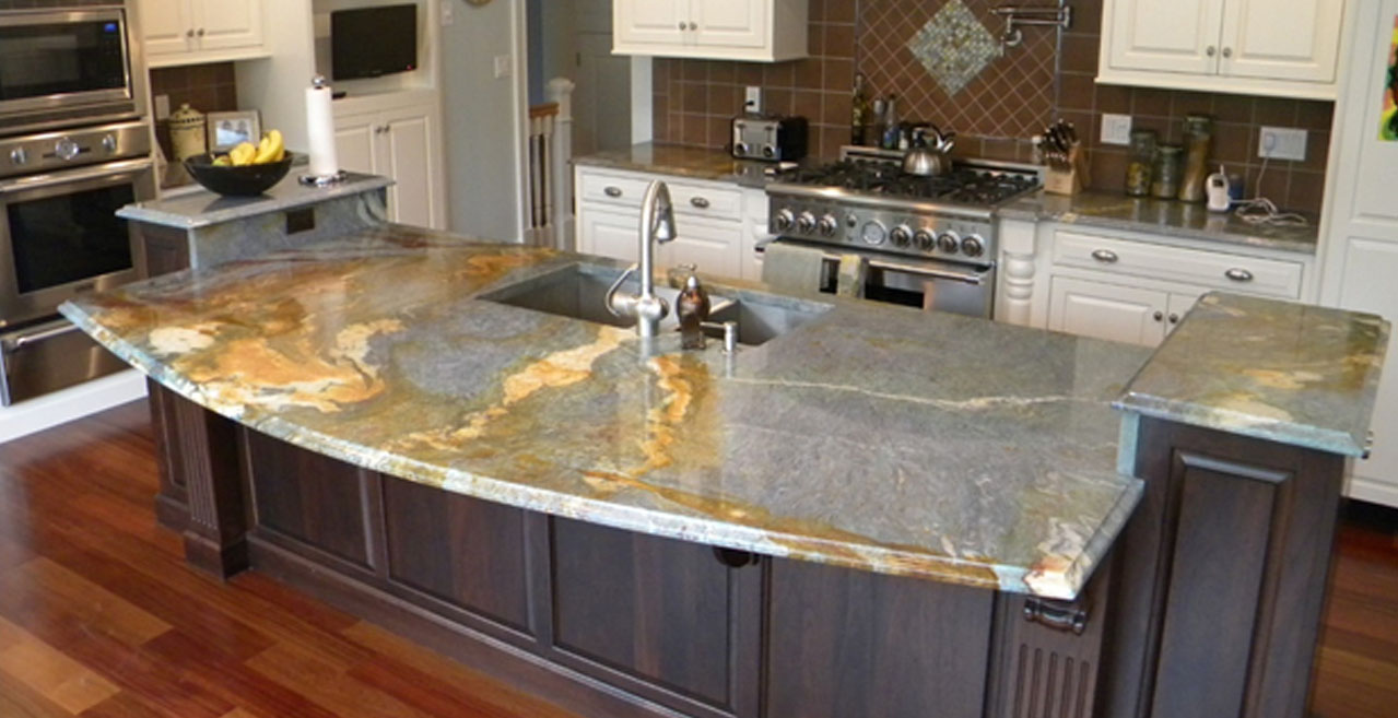 countertop for kitchens granite vs quartz reflect house. Black Bedroom Furniture Sets. Home Design Ideas